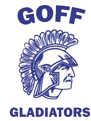 Goff Middle School logo of a gladiator